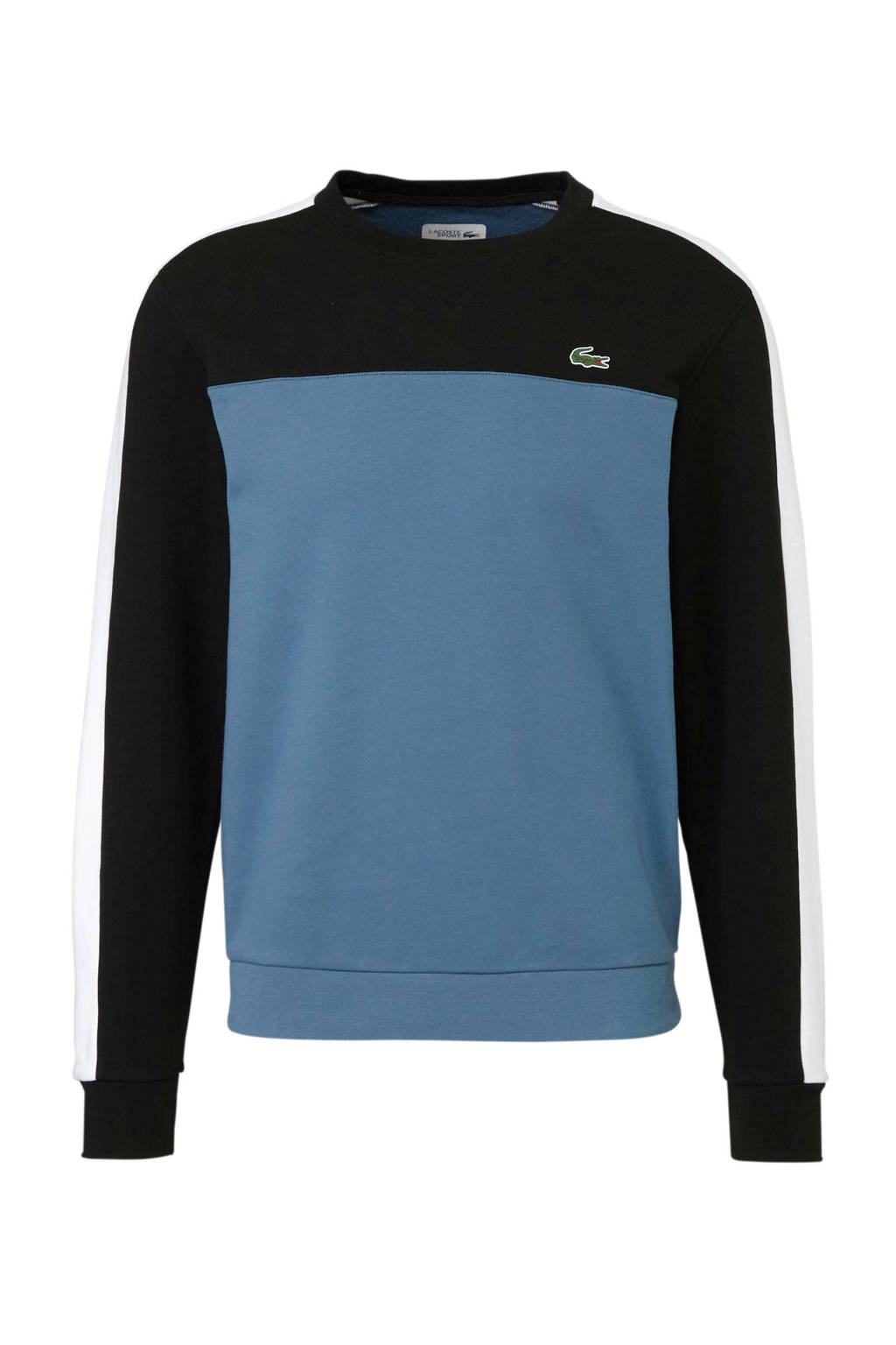 Lacoste   sportsweater blauw/zwart/wit, Blauw