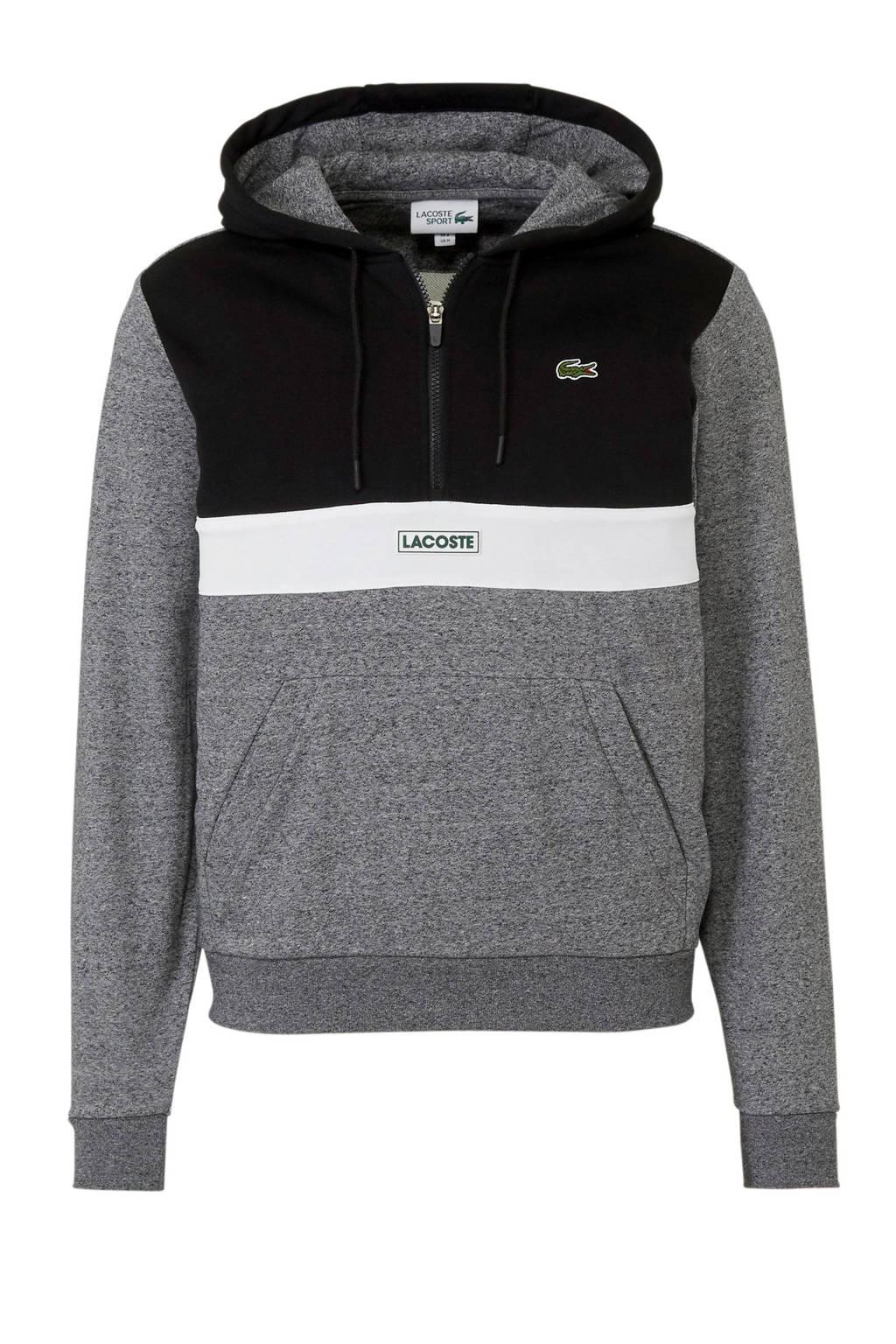 Lacoste   hoody, Zwart/grijs/wit