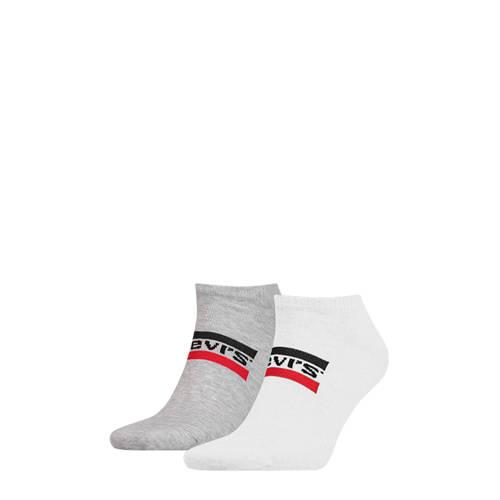Levi's sneakersokken wit/grijs ( set van 2)