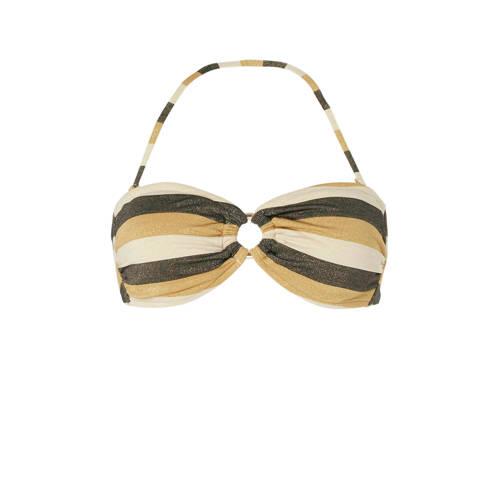Seafolly bandeau bikinitop met lurex goud