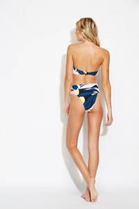 Seafolly bandeau bikinitopje in een all over print geel, Geel/blauw/roze