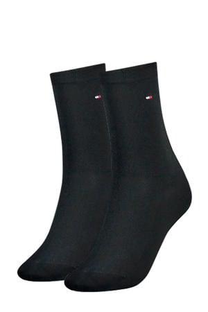 sokken (2 paar) antraciet