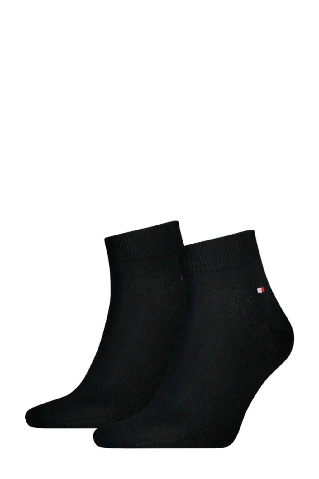 Tommy Hilfiger quarter sokken (2 paar), Zwart