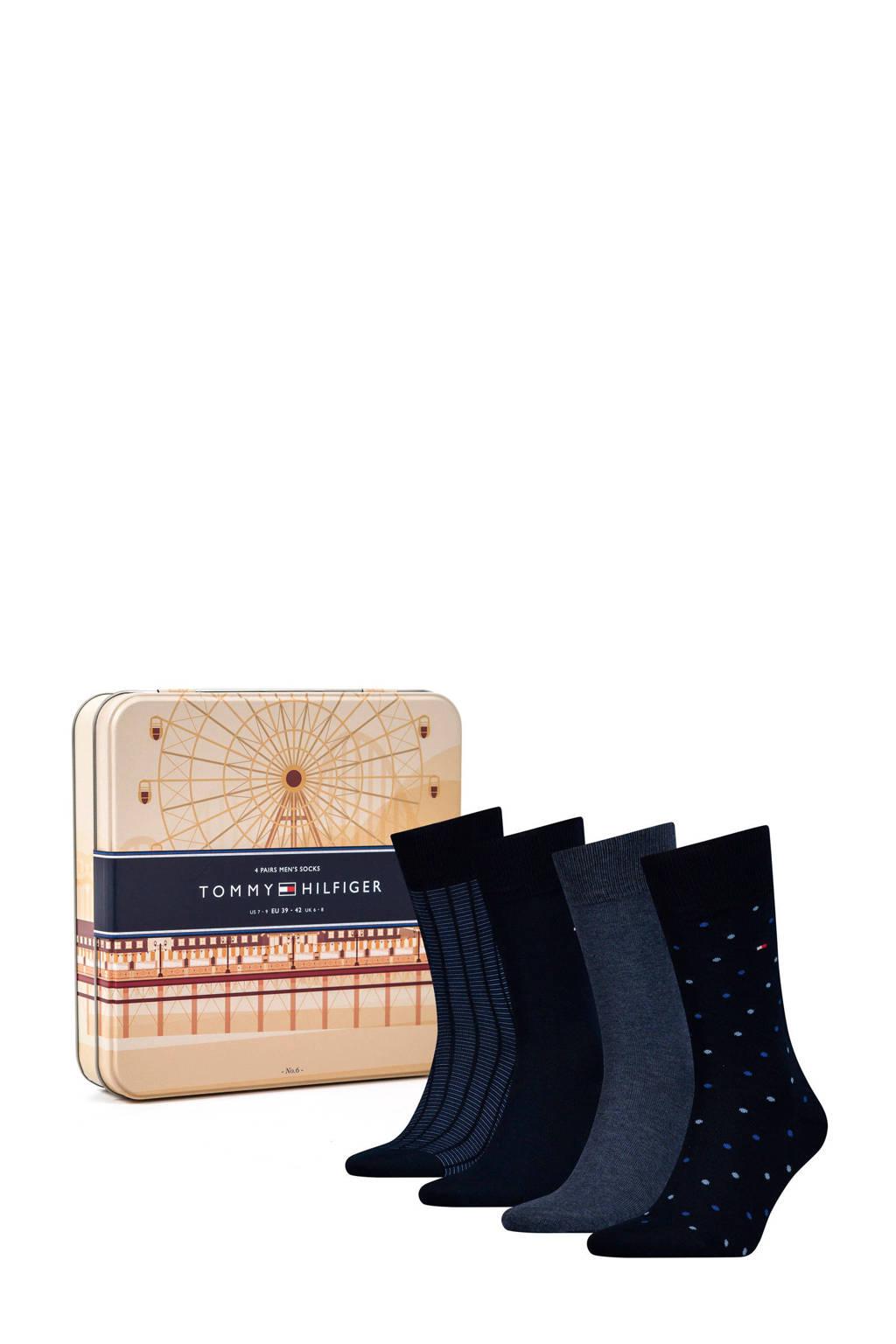 Tommy Hilfiger giftbox sokken (4 paar), Marine