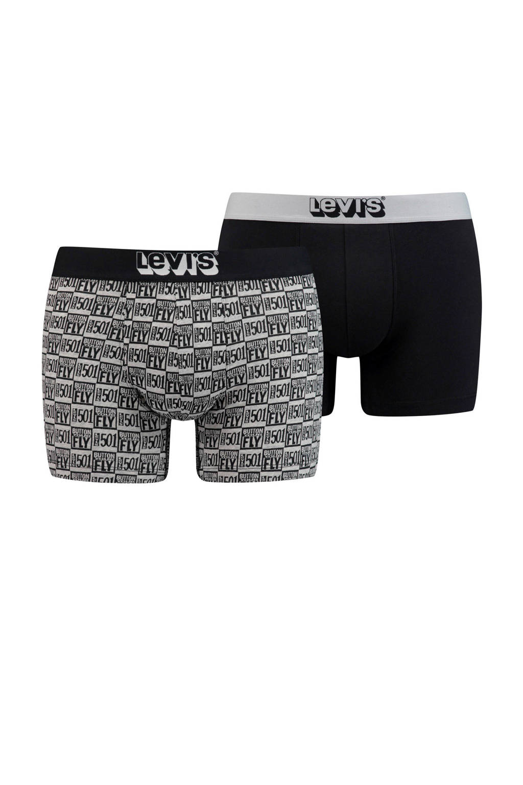 Levi's boxershort (set van 2), Zwart/grijs