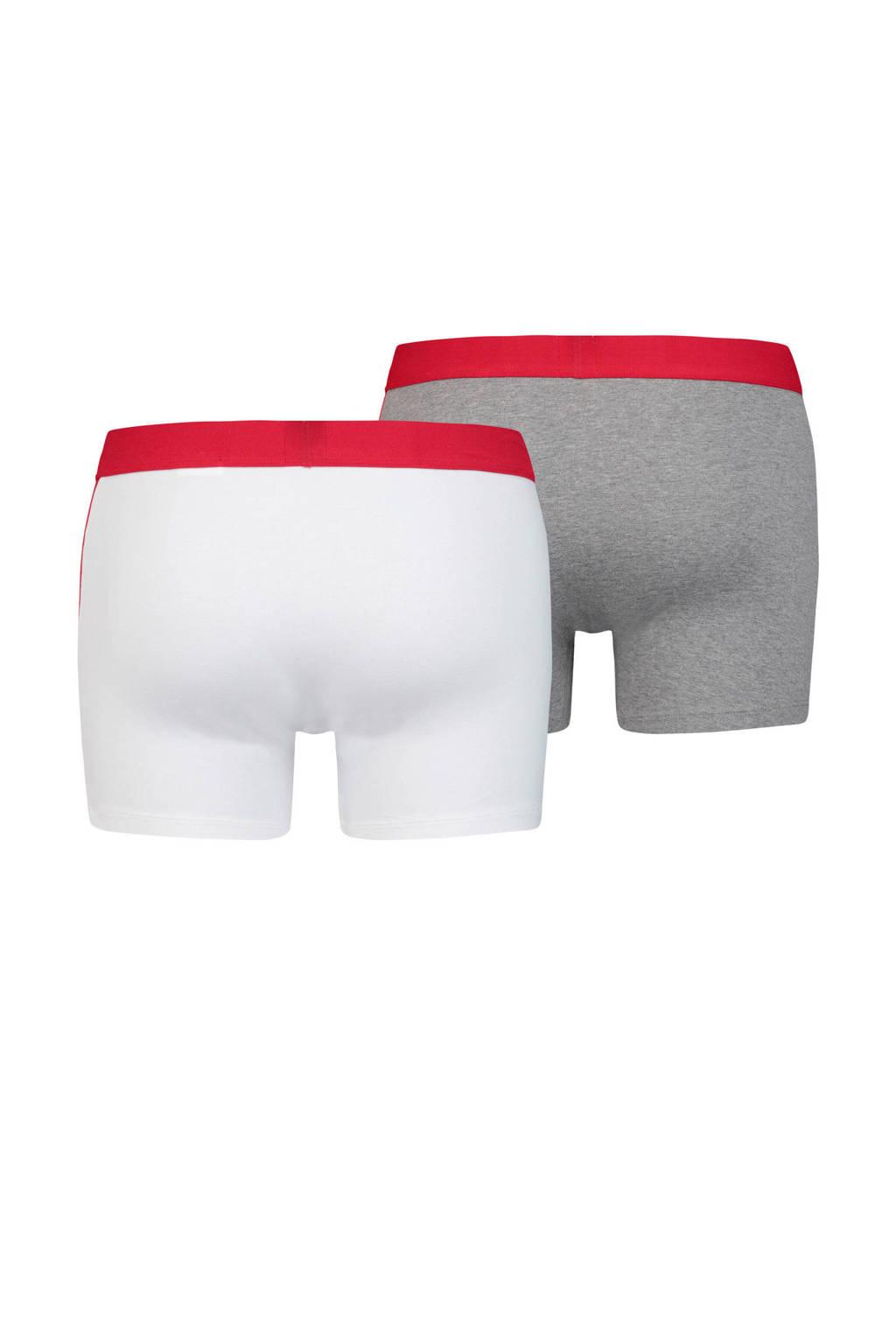 Levi's boxershort (set van 2), Wit/grijs