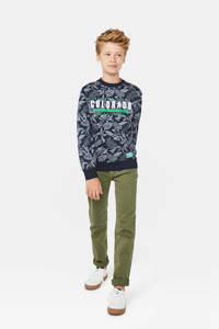 WE Fashion Blue Ridge skinny jeans, Olijfgroen