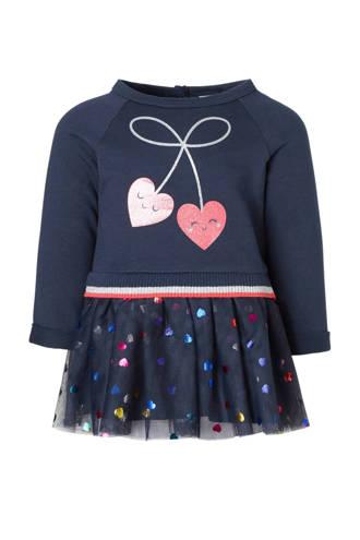 Baby Club jurk met hartjes en mesh blauw