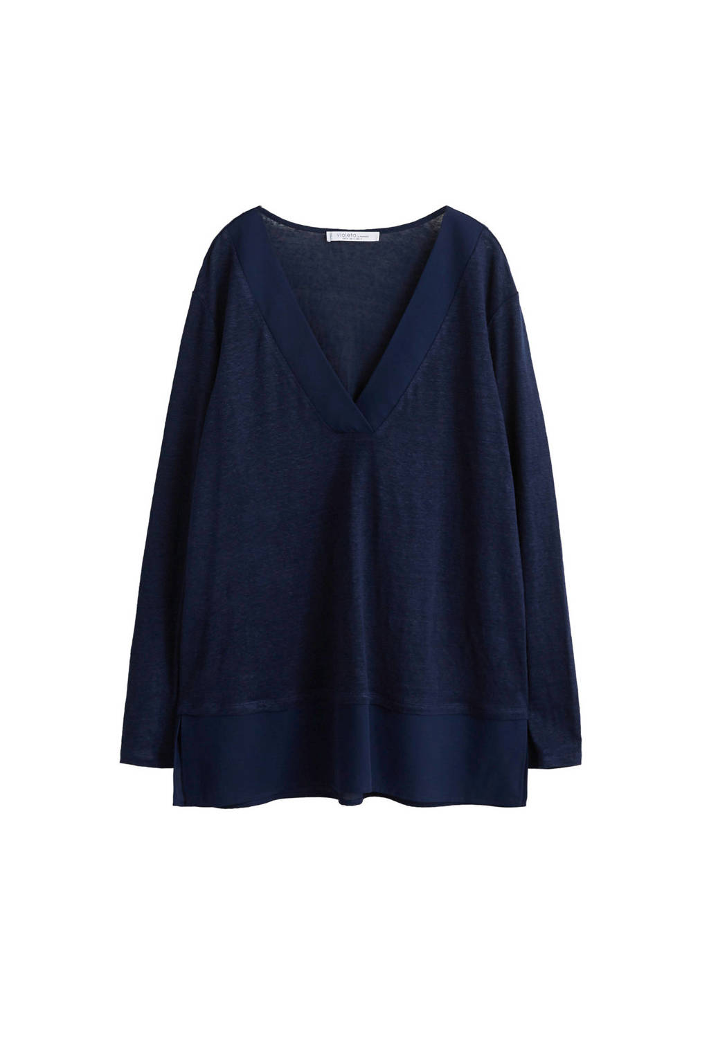 Violeta by Mango trui donkerblauw, Donkerblauw