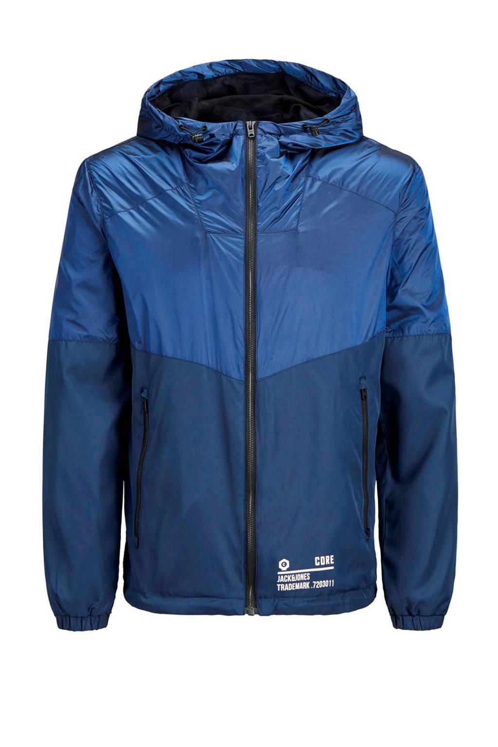 Jack & Jones Junior jas Tonal blauw, Blauw/ donkerblauw