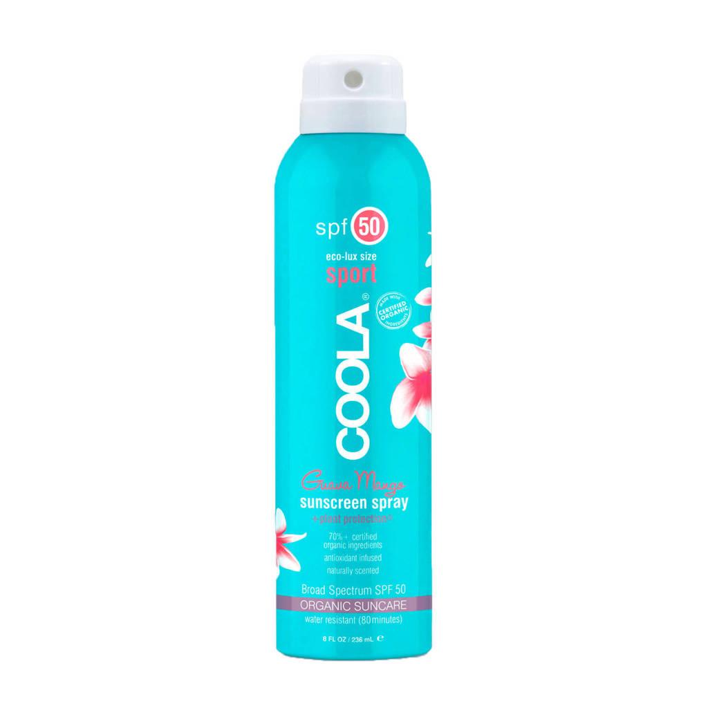 Coola Sport Continuous SPF50 Guava Mango zonnebrandspray - 236 ml