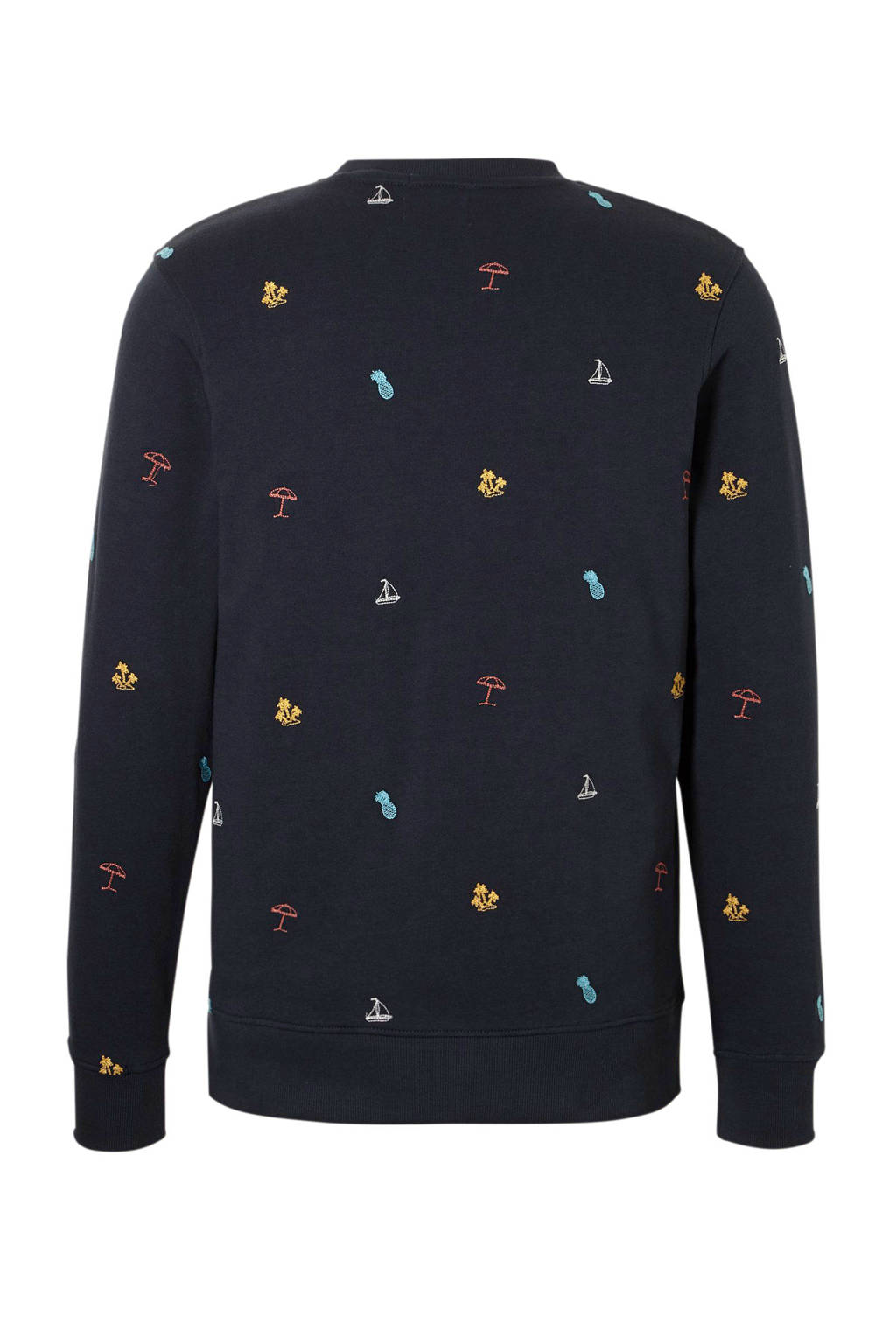JACK & JONES ORIGINALS sweater met borduursels marine, Marine