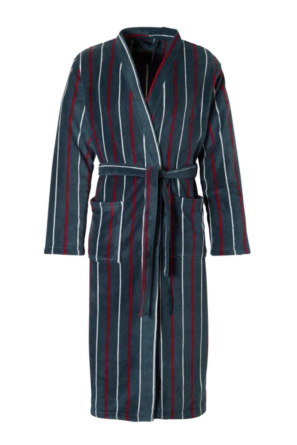 ten Cate badjas met strepen blauw, Blauw/rood/wit