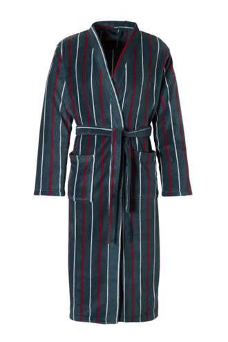 badjas met strepen blauw