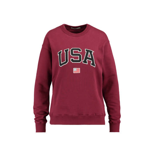 America Today sweater Soel donkerrood kopen