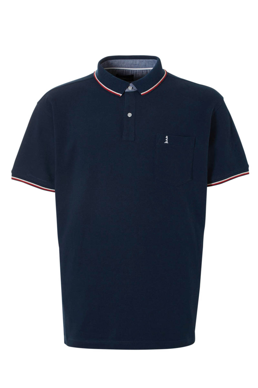North 56°4 +size regular fit polo marine, Marine