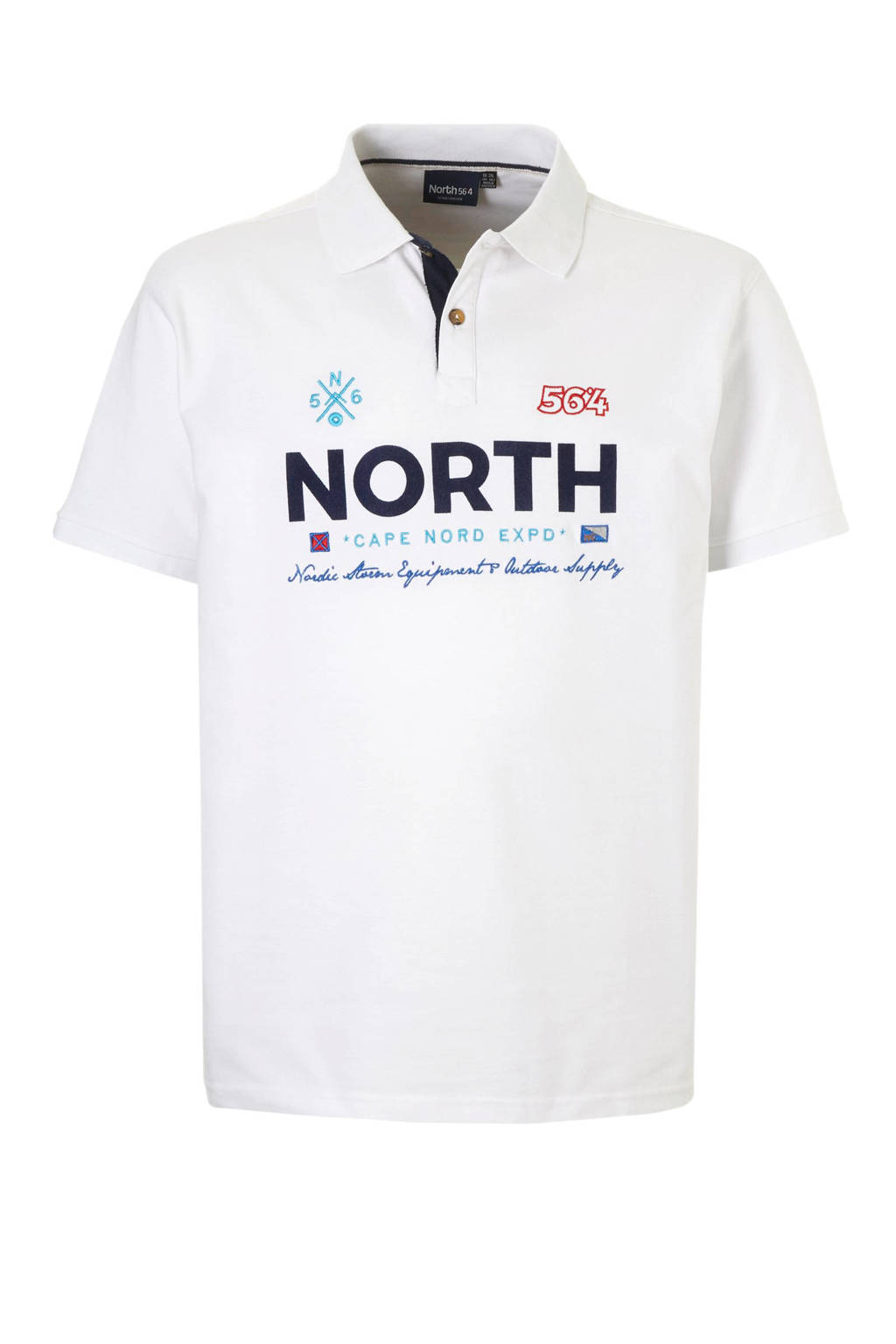 North 56°4 +size polo, Wit