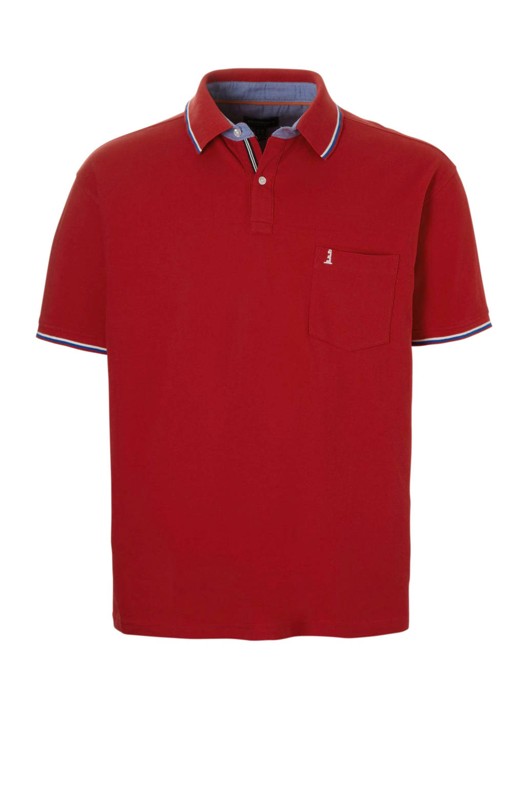 North 56°4 +size polo, Rood