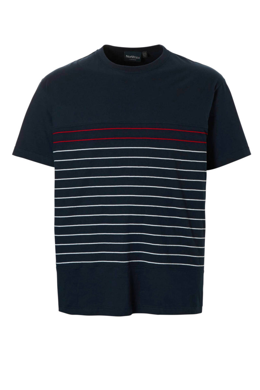 North 56°4 +size t-shirt, Donkerblauw