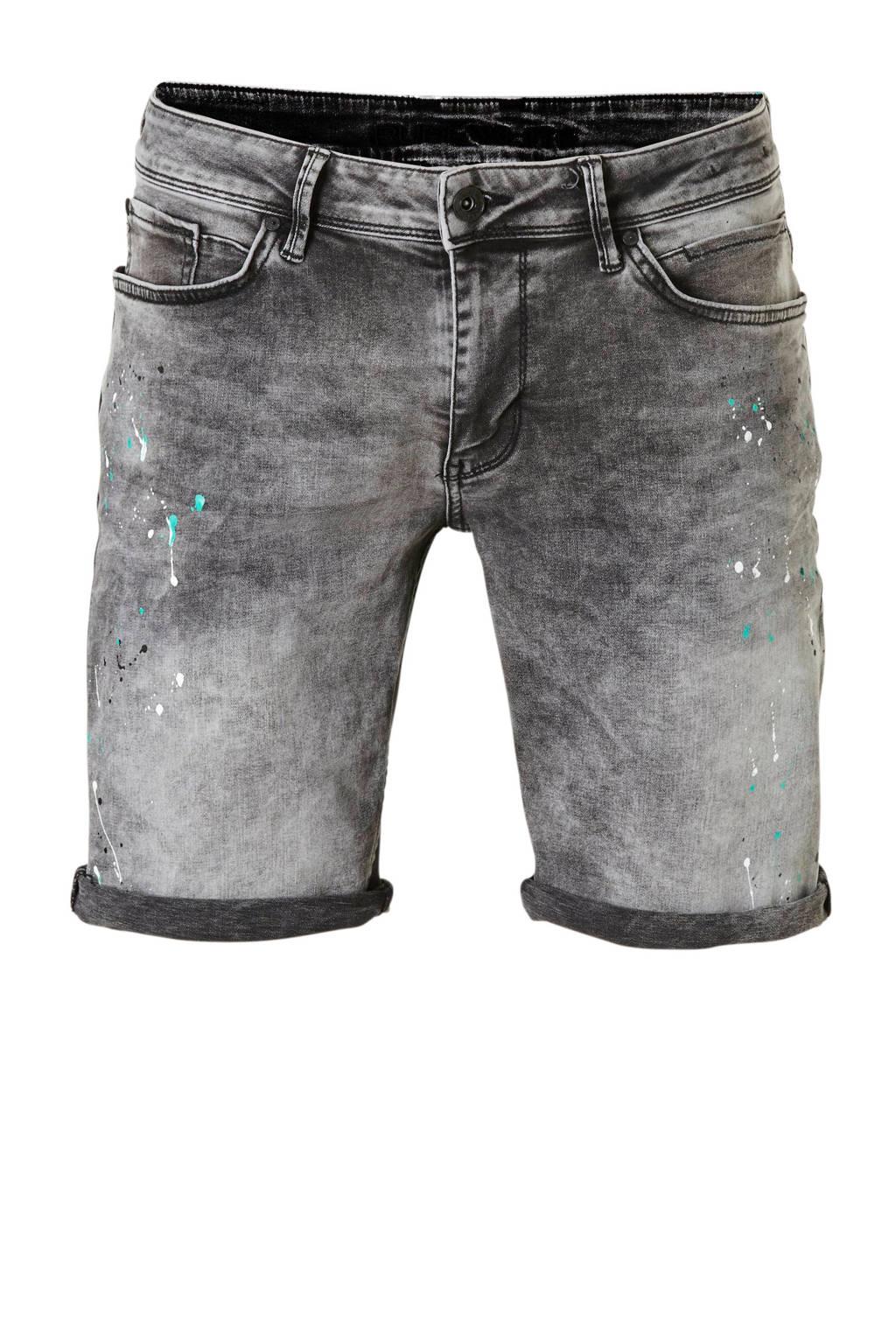 Purewhite regular fit jeans short the Steve, Grey