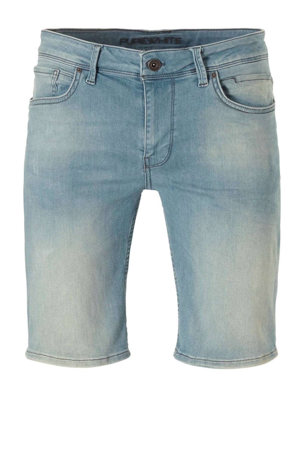 Purewhite slim fit jeans short The Steve, blue