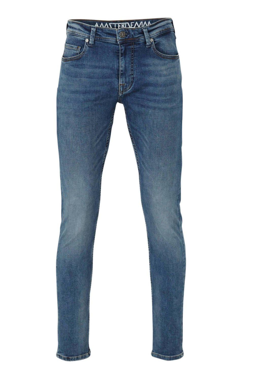 Amsterdenim straight fit jeans Jan, Oud blauw