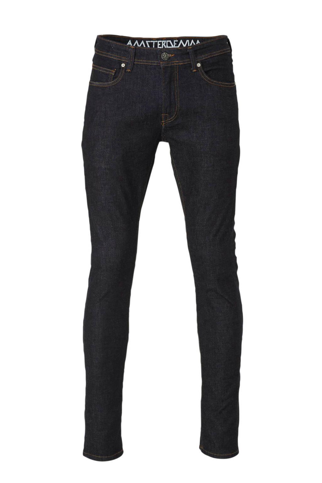 Amsterdenim straight fit jeans Jan, Rauw Blauw