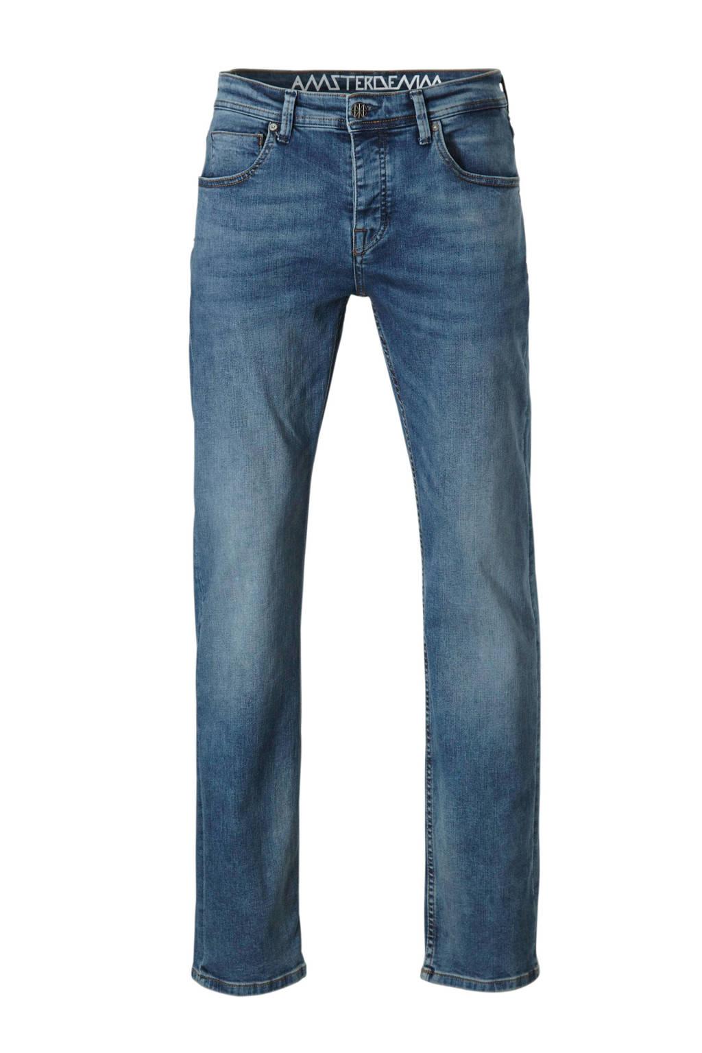 Amsterdenim loose fit jeans Klaas, Oud blauw