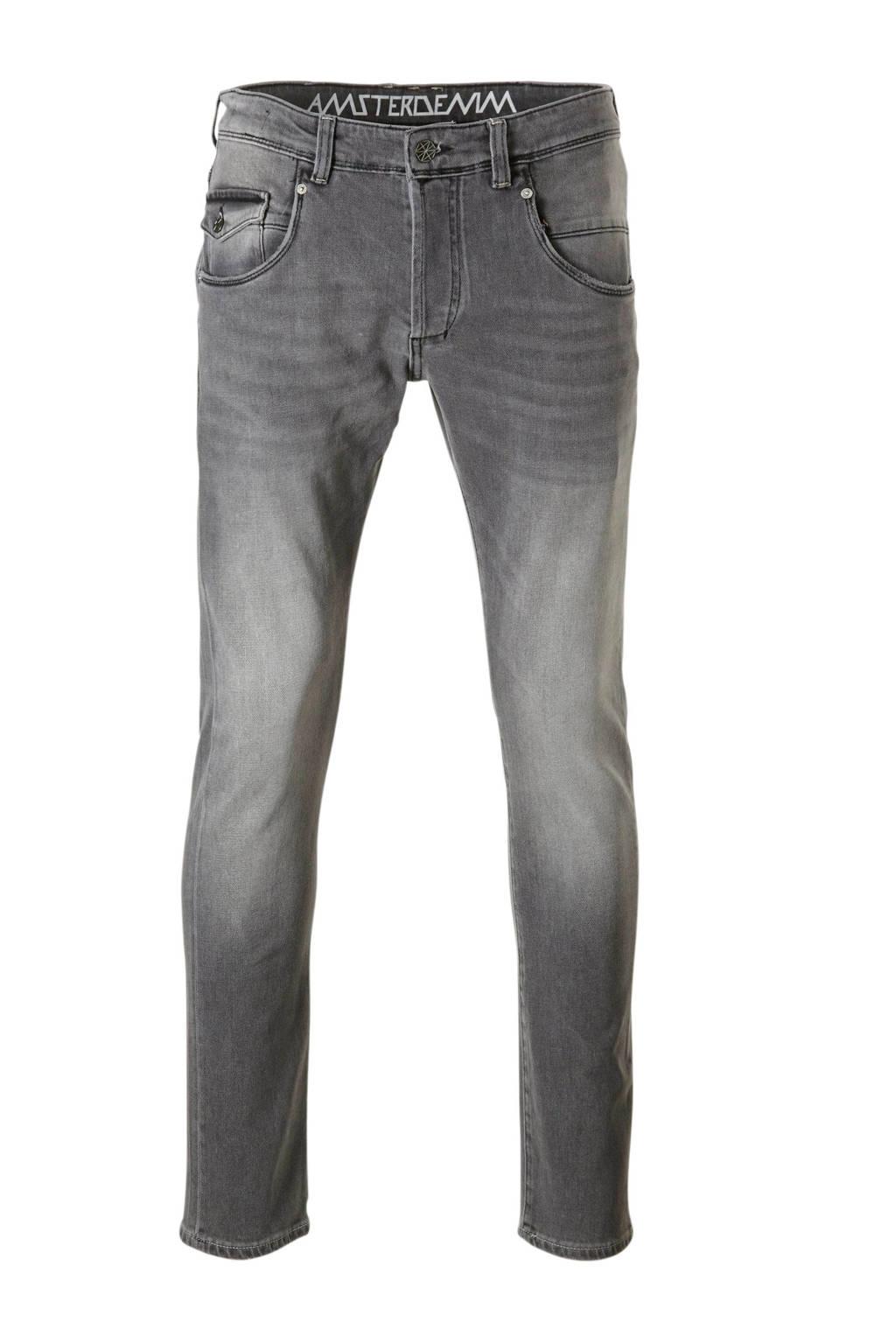 Amsterdenim straight fit jeans Johan, Betondorp