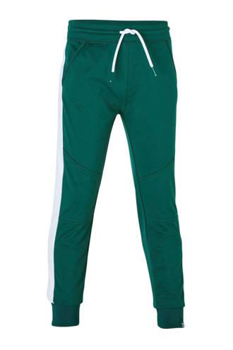 joggingbroek Martijn met zijstreep groen