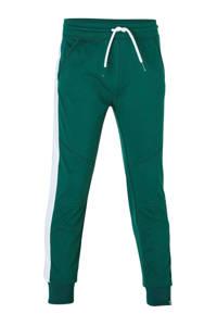 Z8   joggingbroek met zijstreep groen/wit, Groen/wit