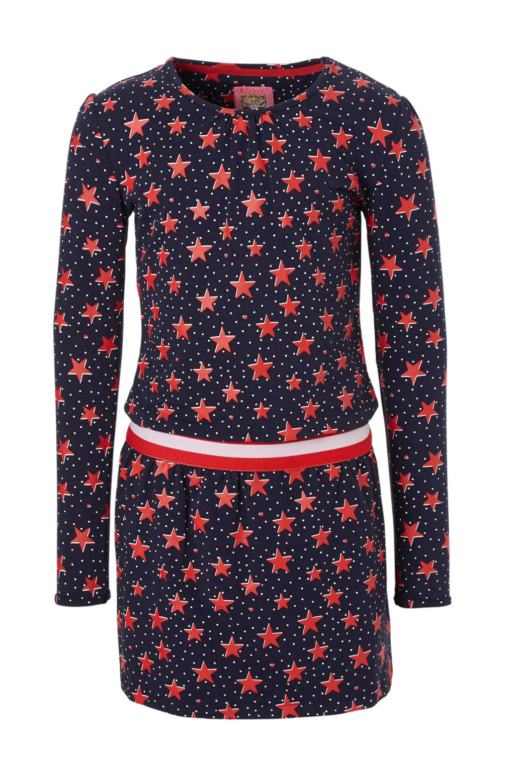 Z8 jurk met sterren blauw/rood/wit, Blauw/rood/wit