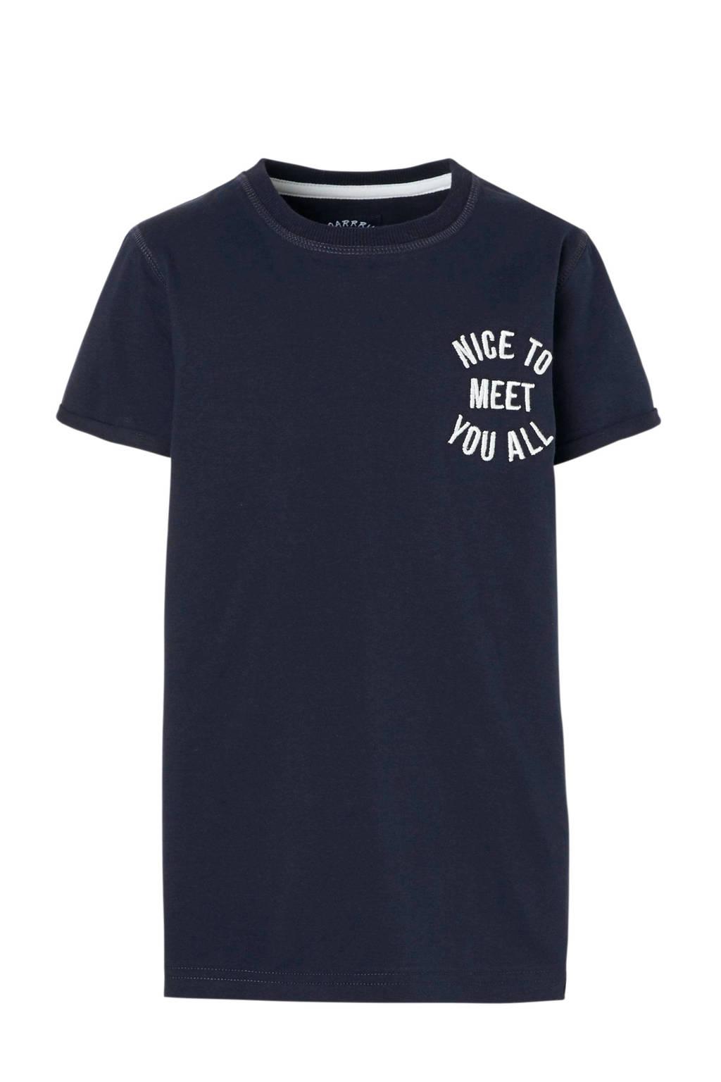 Z8 T-shirt Niek met tekst blauw, Donkerblauw