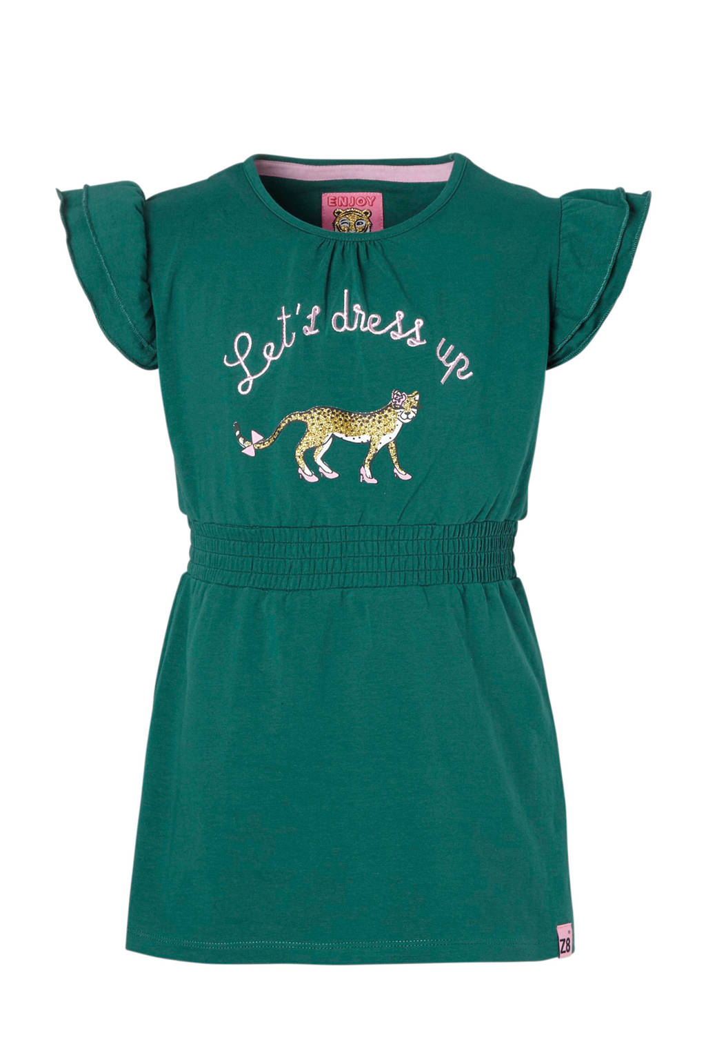 Z8 tuniek Sabrina met tijger en tekst groen, Groen