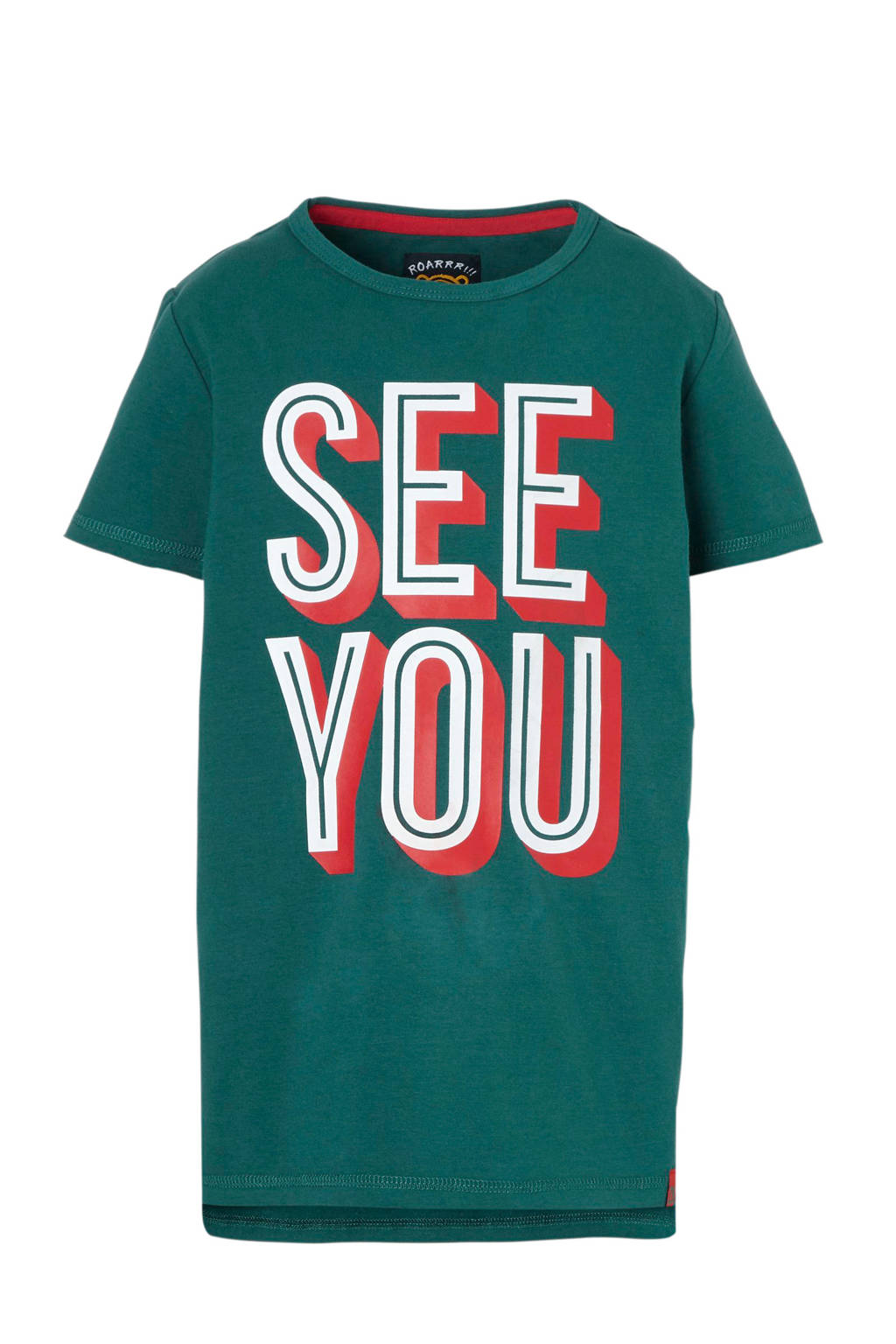 Z8 T-shirt Ruben met tekst groen, Groen/Wit/Rood