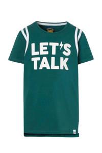 Z8 T-shirt Jesse met tekst groen, Groen/wit