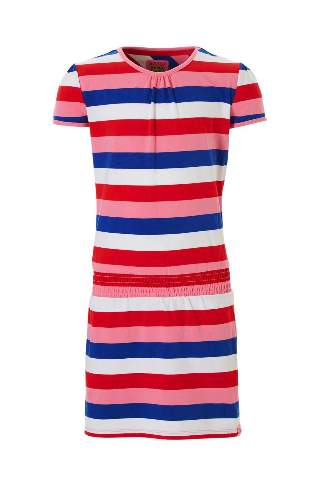 Z8 gestreepte jurk Milou rood, Rood/roze/blauw/wit