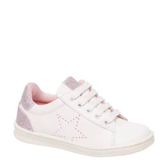 vanHaren Cupcake Couture  leren sneakers wit/roze