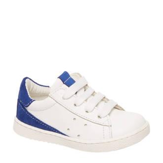 vanHaren Bobbi-Shoes  leren sneakers wit/blauw