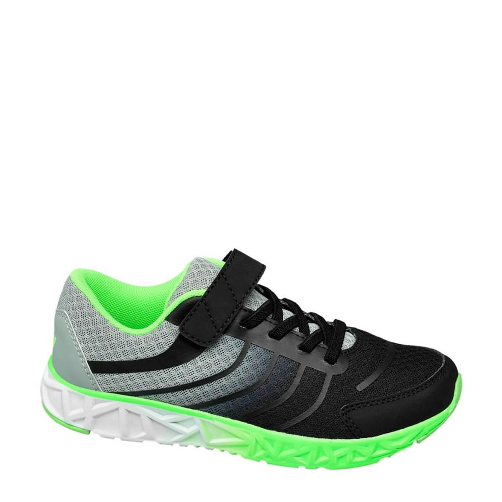 Vty   sneakers zwart/groen, Zwart/grijs/groen