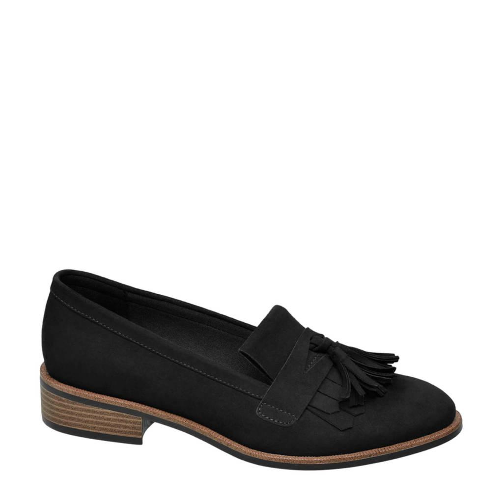 vanHaren Graceland   loafers zwart, Zwart