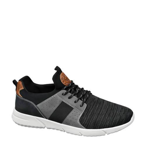 vanHaren Venice sneakers zwart-grijs