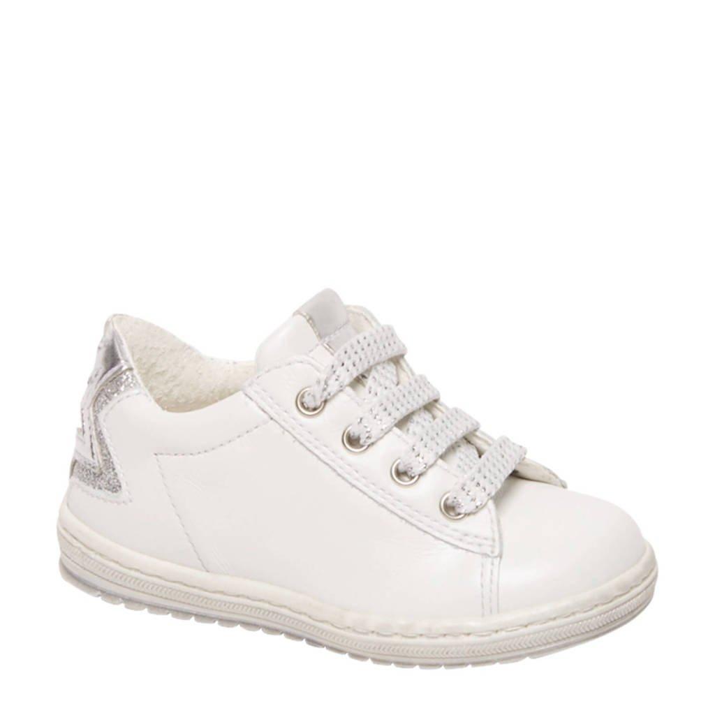 vanHaren Cupcake Couture  leren sneakers wit/zilver, Wit