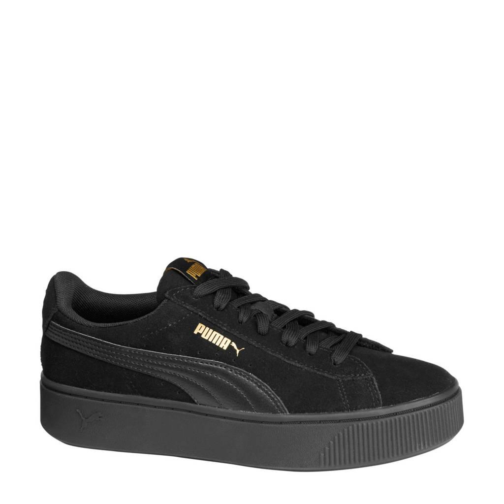 Puma  Smash Platform sneakers zwart, Zwart
