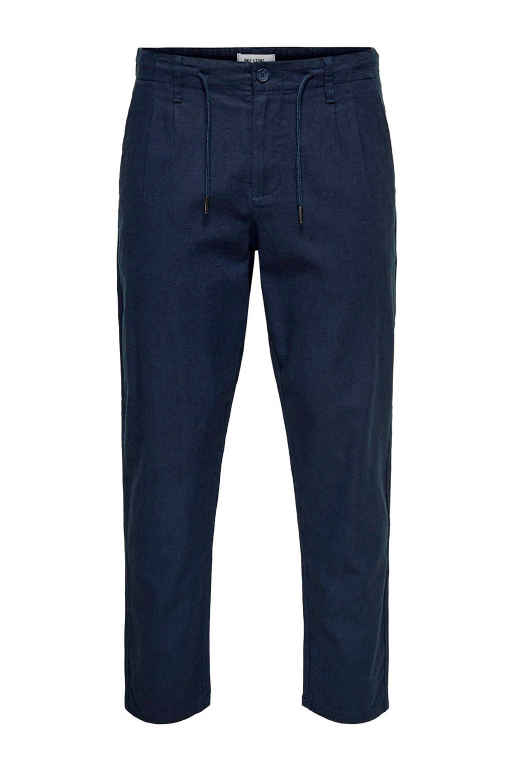 Only & Sons relaxed fit chino donkerblauw, Donkerblauw