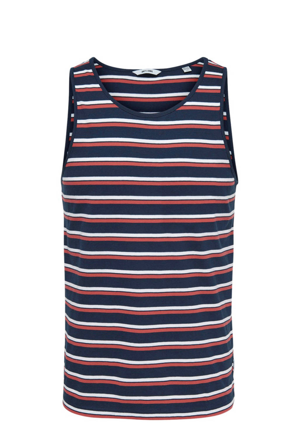 Only & Sons singlet, Donkerblauw/rood/wit