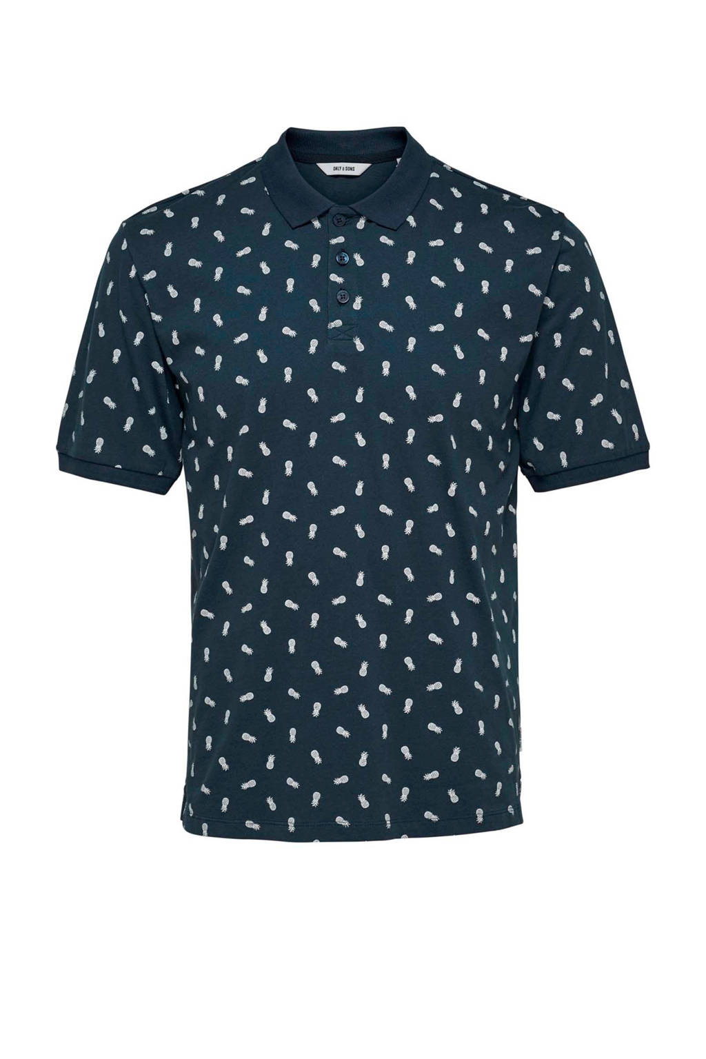 Only & Sons polo, Donkerblauw