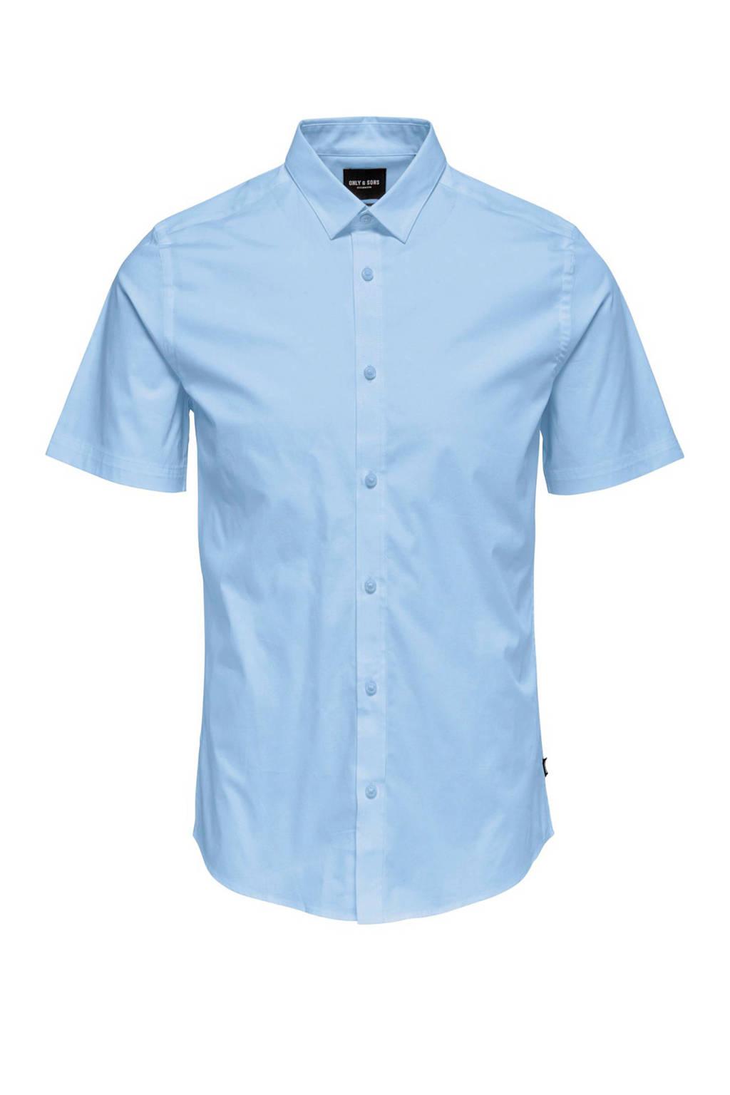 Only & Sons overhemd lichtblauw, Lichtblauw