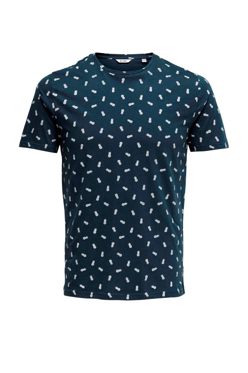 Only & Sons T-shirt, Donkerblauw