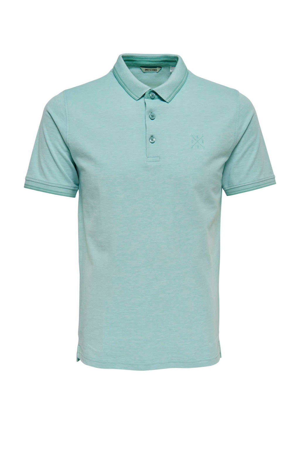 Only & Sons Stan regular fit polo, Aqua